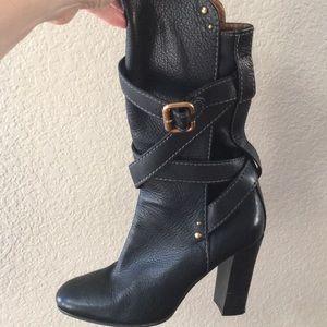 Chloe Black Mid Calf Boot